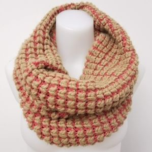 GAP Women's Infinity Scarf, Caramel and Pink